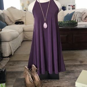 Plum Cupro Dress